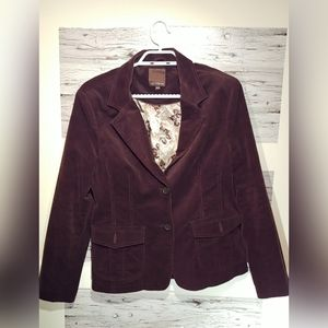 Lady Hathaway Size Medium Brown Courderoy Blazer